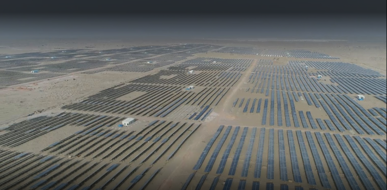 Bhadla Solar Park Aerial View