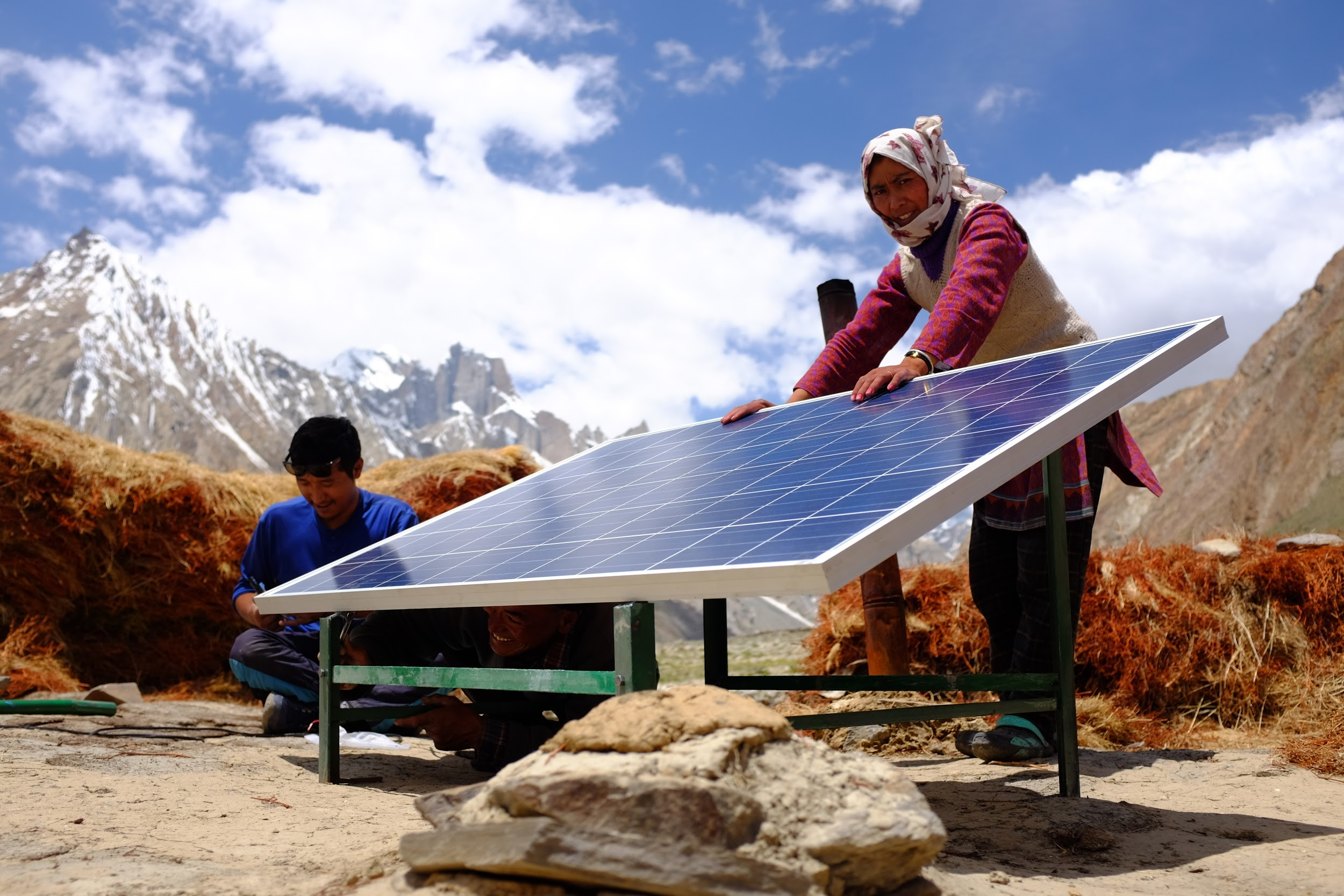 Solar Panel installed in Ladakh