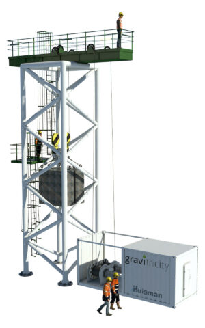 Scale prototype test rig 250kW Gravitricity