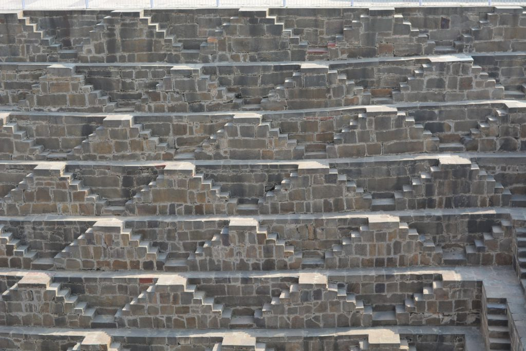Chand Baori Stepwell triangular stairs